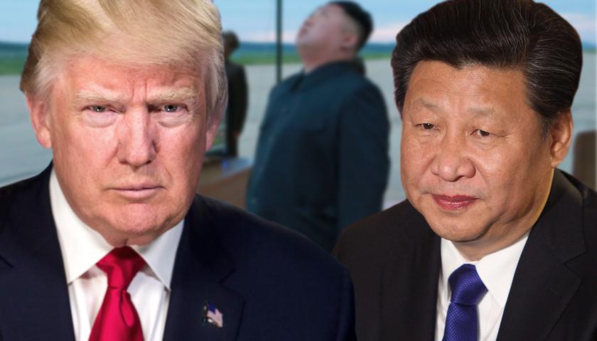 President Donald Trump, President Xi Jinping, Kim Jong Un