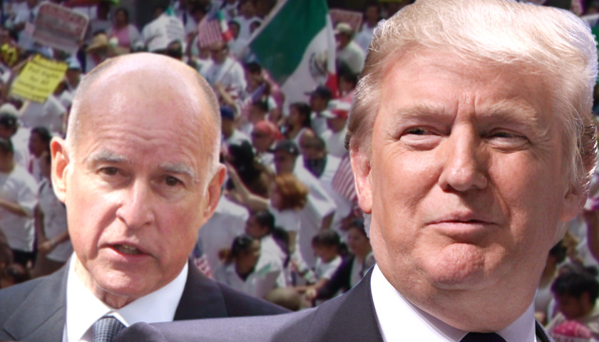 Trump and Jerry Brown