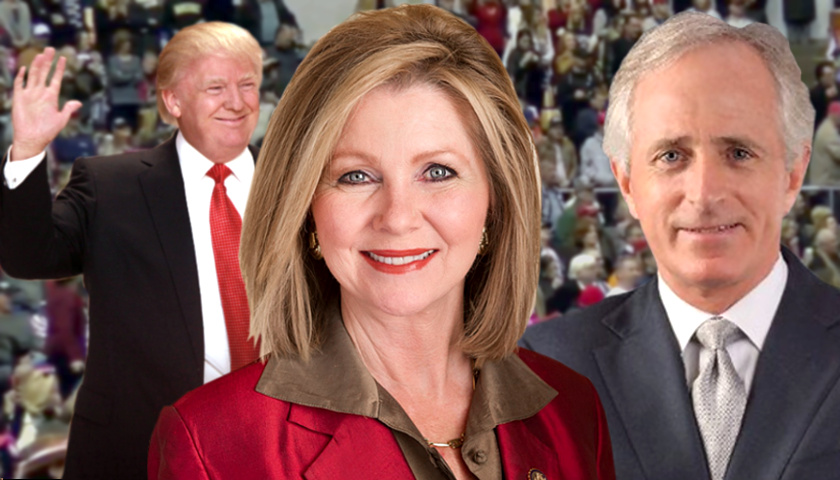 President Trump. Marsha Blackburn, Bob Corker