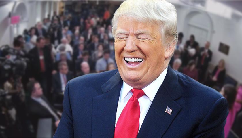 President Trump w White House Press