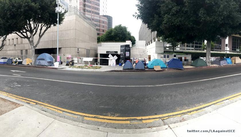 Anti-ICE camp