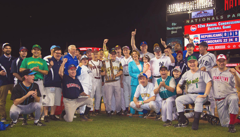 Congressional baseball game group photo