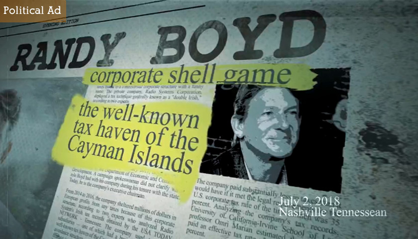 Black blasts Boyd on Taxes