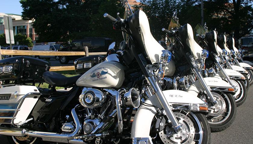 Arlington Police motorcycles
