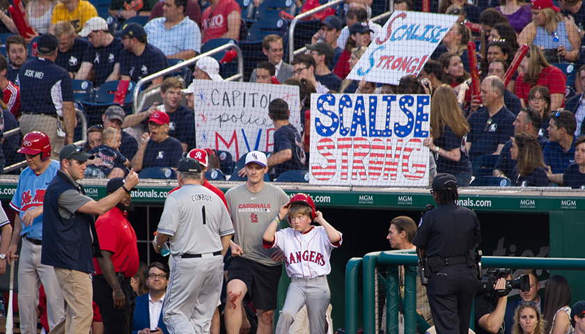 Scalise supporters at the 2017 Congressional Baseball Game
