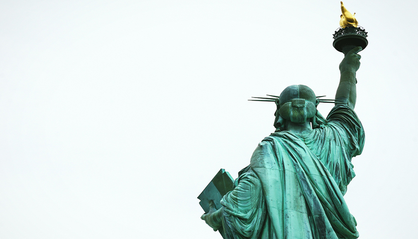 Back of the Statue of Liberty