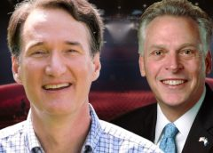 Glenn Youngkin and Terry McAuliffe