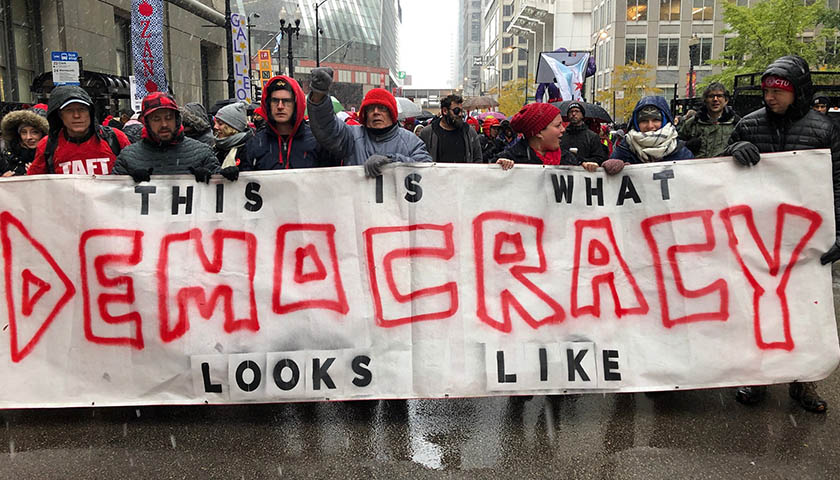 Chicago Teachers' Union protesting