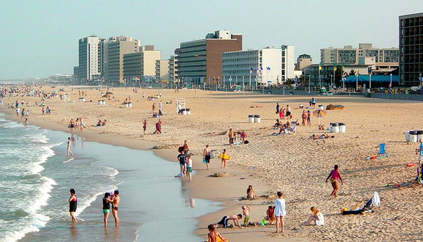 Several people on Virginia Beach