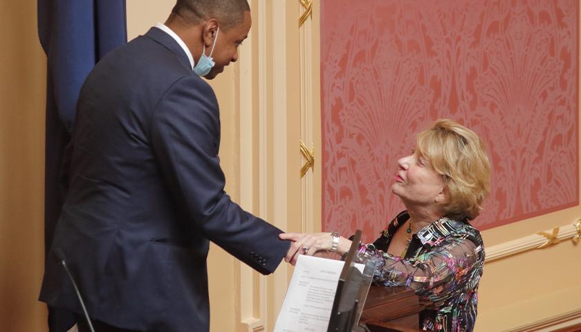 Lieutenant Governor Justin Fairfax sp ... inance Chair Senator Janet Howell.