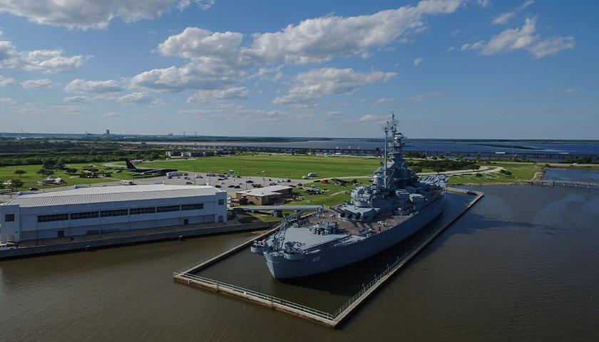 USS Alabama at deck in Mobile, AL